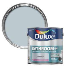 Dulux Bathroom+ Coastal Grey Paint 2.5L   Departments   DIY at B&Q