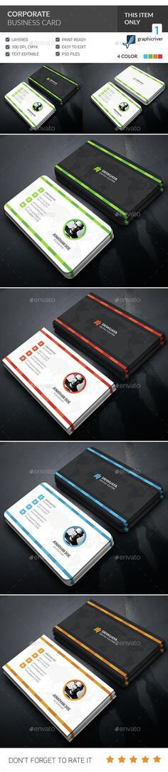 Corporate Business Card Template PSD. Download here: http://graphicriver.net/item/corporate-business-card-/15165886?ref=ksioks