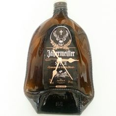Jagermeister Spice brown bottle clock by Aramica on Etsy