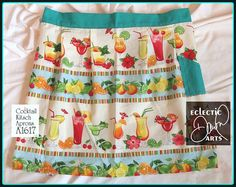 Tropical Drinks Apron Cocktail Kitsch Summer by EclecticDawnArts