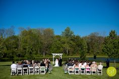 Gorgeous blue sky above the Lakeview! Chester County, Philadelphia Wedding, Lake View, Beautiful Gardens, Photo Credit, Pond, Dolores Park, Pergola, Sky