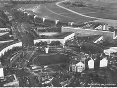 Flughafen Tempelhof Luftaufnahme, Platz der Luftbrücke (1965)