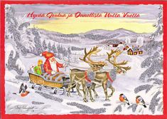 Merry Christmas Santa & Reindeer by Mailbox Happiness-Angee at Postcrossing, via Flickr