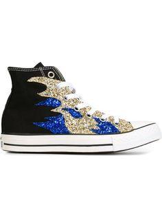 Converse Tênis com paetês Black Converse, Black Sneakers, Converse Shoes,  Converse Trainers, 97a0a14c3a2