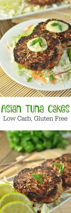 Asian Tuna Cakes - Paleo, Low Carb, Gluten Free