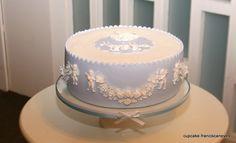 Baptism cake for baby boy