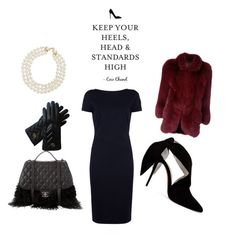"""My Little Black Dress"" by roshamba on Polyvore featuring St. John, Christian Louboutin, Gucci, Chanel and Christian Dior"