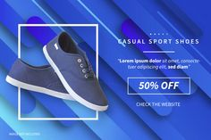 Modern sale banner with product Free Vec. Free Banner, Vector Photo, Lorem Ipsum, Vector Free, Product Description, Modern, Bowling, Shoes, Template