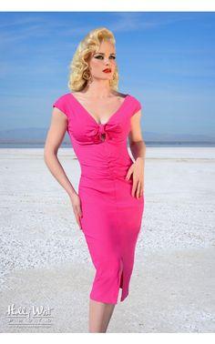 Dixiefried- The Niagara Dress in Pink Bengaline | Pinup Girl Clothing