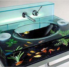 Fisch Waschbecken