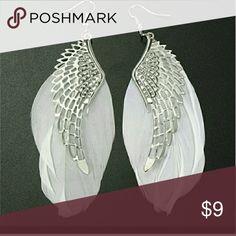 BRAND NEW Angel Feather dangle Earrings BRAND NEW. In package. Angel Feather dangle Earrings. So cute!! Boutique Jewelry Earrings