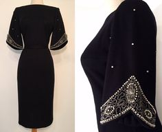 RESERVED / layaway for A / 1950's-60s Black wool by GoodToSoul