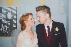 Eclectic Basement Wedding: Louisa & Richie