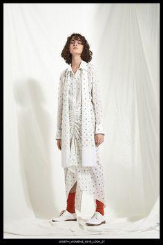 JOSEPH Fashion, Pre-Spring Summer 2018 Collection, Look 27 // Creative Director: Louise Trotter. Styling: Jane How. Photography: Bibi Borthwick. Models: Milena Litvinovskaya and Leila Zandonai //
