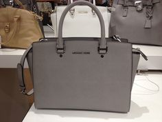8a55a16968 Michael Kors Selma Satchel in Pearl Grey Mk Handbags