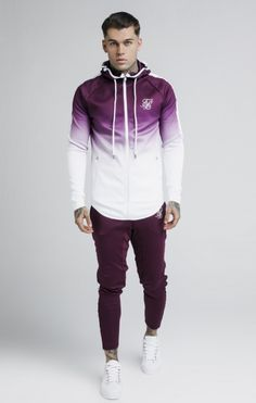 Jersey SikSilk M/L Degradado Burgundy Mens Clothing Guide, Mens Clothing Styles, Sport Outfits, Boy Outfits, Fashion Outfits, Trendy Hoodies, Gents Fashion, Sporty Style, Mens Fitness