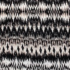 Black Taupe Ikat Cotton Jersey Blend Knit Fabric