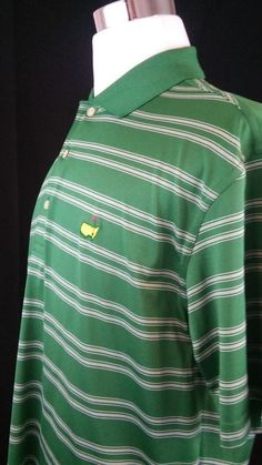 Augusta Logo Masters- Large -Golf Polo Shirt Green  #Masters #Golf #GreatSecretsofGolf