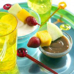 Fruit Skewers with Creamy Caramel Dip