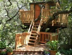 Just finished watching Pete Nelson's tree house tv show. Now I want to stay in one of those soooooo badly..