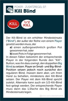 Poker Regeln Kill Blind Pot Button Lammer Blinds, Button, Games, Game, Shades Blinds, Blind, Gaming, Draping, Exterior Shutters