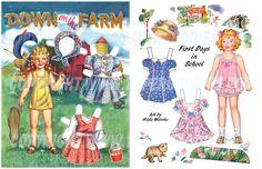 (⑅ ॣ•͈ᴗ•͈ ॣ)♡ ✄2 PD Art Prints, frameable-Farm, 1st dDays School