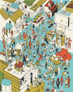 Cool illustrations by Josh Cochran