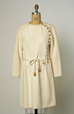 1969 House of Dior, Marc Bohan Designer Cocktail dress  Metropolitan Museum of Art, NY. See more museum collection dresses at www.vintagefashionandart.com.