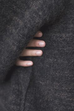 charcoal knit and purl sweater