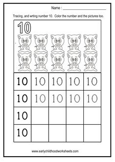writing number worksheets