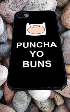 adventure time puncha yo buns for iPhone 4/4s, iPhone 5/5S/5C/6, Samsung S3/S4/S5 Unique Case *76*