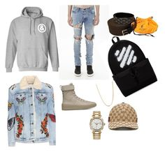 """""""Rich Asian that you see at the mall starter pack"""" by untitledandco ❤ liked on Polyvore featuring Off-White, Gucci, Goyard, Bianca Pratt, Rolex, men's fashion and menswear"""