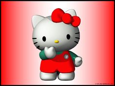 Fondo de Pantalla de Dibujos Animados: Hello Kitty