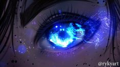 Beautiful Eyes Color, Pretty Eyes, Pretty Art, Cool Eyes, Art Anime, Anime Art Girl, Anime Fantasy, Fantasy Art, Demon Eyes