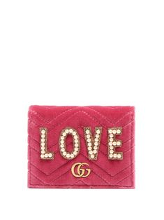 80bfe02915a2 Click here to buy Gucci GG Marmont embellished velvet wallet at  MATCHESFASHION.COM Gg Marmont