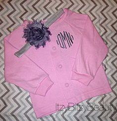 Baby girls #monogram #personalized #sweater by Itzybitzybeauty