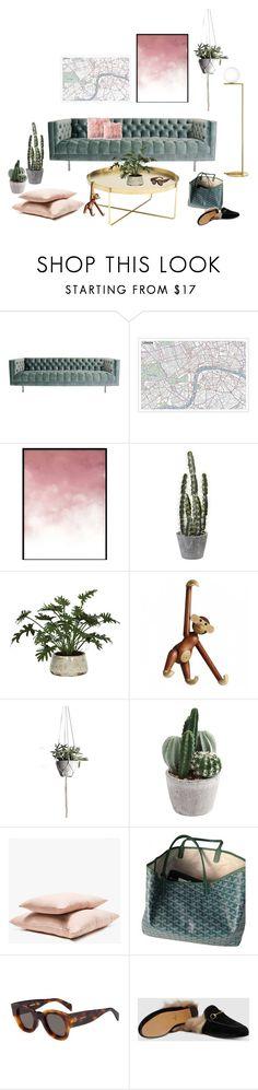 Livingroom by trendsy on Polyvore featuring interior, interiors, interior design, home, home decor, interior decorating, Las Venus, Axis Maps, Hawkins and Lux-Art Silks