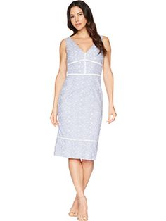 4ad49d7dc543b Maggy London Pincord Embroidery Novelty Sheath Dress