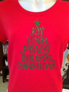 Christmas Tree Words Rhinestone Heat Transfer DIY by . Christmas Style, Christmas Vinyl, Pink Christmas, Christmas Shirts, Xmas Shirts, Vinyl Crafts, Vinyl Projects, Tee Design, Pokemon Life
