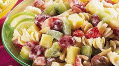 Open up salad pasta-bilities!  Add fruit and a citrus-yogurt dressing.