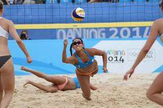 Atleta Estefanie Bethancourt de Voleibol de Playa.