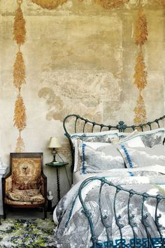 romantically weathered bedroom.  Oh my.  #Anthropologie #PinToWin
