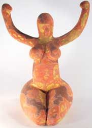 Neolithic Egyptian Nile female figurine, 3,000-4,000 BCE.
