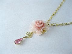 Bridal Necklace,Gold plated Necklace,Wedding Bridal Jewelry,Victorian,Lilac, Vintage Inspired Jewelry E08