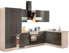 Optifit Winkelküche mit E-Geräten »Bern«, Stellbreite 315 x 175 cm online kaufen | OTTO