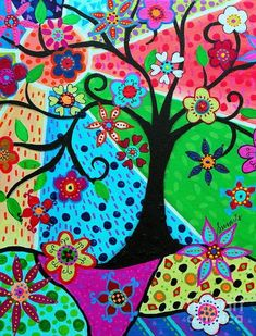 Jody's Tree of Life by Pristine Cartera Turkus Tree Of Life Painting, Tree Of Life Art, Tree Art, Dot Art Painting, Acrylic Painting Canvas, Canvas Art, Canvas Prints, Bohemian Painting, Bullet Journal Art