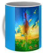 Horse Spirit - Abstract Painting  Coffee Mug
