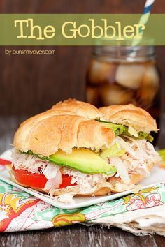 The Gobbler – a unique recipe for a turkey sandwich! The Gobbler – a unique recipe for a turkey sandwich! Sandwiches For Lunch, Turkey Sandwiches, Soup And Sandwich, Wrap Sandwiches, Sandwich Recipes, Croissant Sandwich, Sandwich Board, Delicious Sandwiches, Lunch Recipes