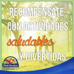 """""""Recompénsate con actividades saludables y divertidas"""" #FraseDelDía #Motivación"""