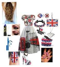 """Britain #126"" by kitchenkalie ❤ liked on Polyvore featuring WearAll, Bling Jewelry, claire's, Dowse, Topshop, Kiss Kouture and Stila"